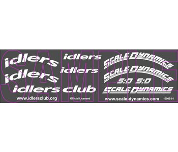 Scale Dynamics Idlers Tire Decals (2pcs for 4 tires)