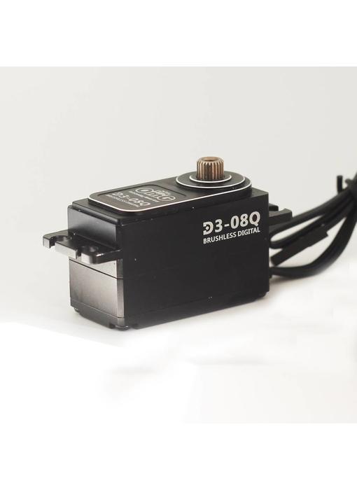 RC OMG D3 Brushless Digital Servo 8kg Full Metal Low Profile - Black