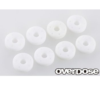 Overdose Machined POM Resin Shock Piston Set for HG Shock (φ0.5x5/φ0.5x6/φ0.6x5/φ0.6x6)