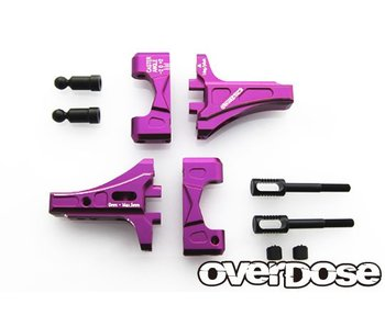 Overdose Adj. Front Suspension Arm Type-2 for OD / Purple