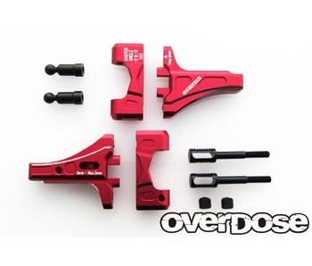 Overdose Adj. Front Suspension Arm Type-2 for OD / Red