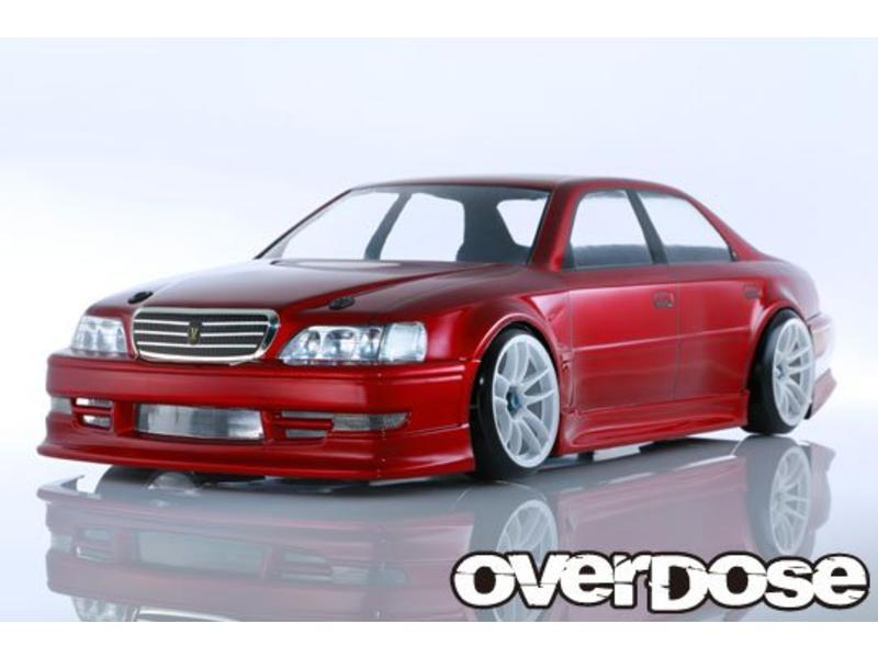 Overdose Toyota Cresta JZX100 Clear Body (195mm/Decal/Masking/Light Bucket)