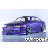 Overdose Toyota Chaser JZX100 Chaser Clear Body (195mm/Decal/Masking/Light Bucket)
