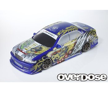 Overdose Toyota Chaser JZX100 Clear Body & Weld FujinRaijin Decal Set