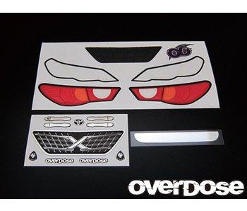 Overdose 3D Graphic Series Light & Emblem Set for OD Toyota Mark X