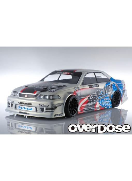 Overdose Toyota Mark II JZX100 Clear Body & Team Kenji with Tomei Powered Decal Set