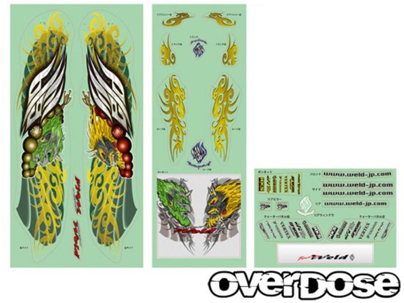 Overdose Toyota Chaser Clear Body & Weld FujinRaijin Graphic Decal Set