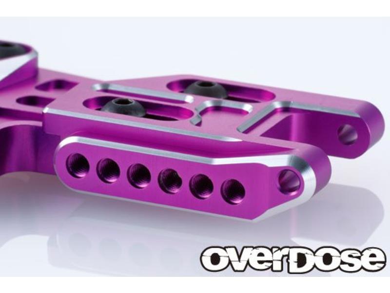 Overdose Adjustable Aluminium Rear Suspension Arm Type-2 for OD / Color: Red