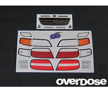 Overdose 3D Graphic Series Light & Emblem Set for OD Toyota Chaser JZX100