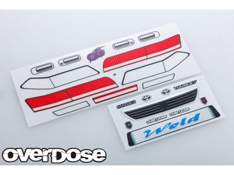 Overdose 3D Graphic Series Light & Emblem Set for OD Toyota Mark II JZX100