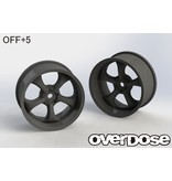 Overdose Work VS KF / Color: Black / Offset: 5mm (2pcs)