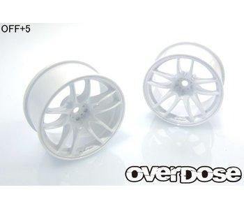 Overdose R-SPEC Work Emotion CR Kiwami / White / 5mm (2)