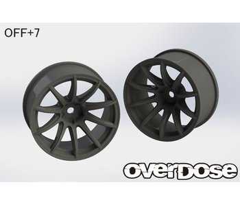 Overdose Rays Gram Lights 57Transcend / Black / 7mm (2)
