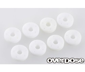 Overdose Machined PTFE Shock Piston Set for OD, TRF (φ0.5x5/φ0.5x6/φ0.6x5/φ0.6x6)