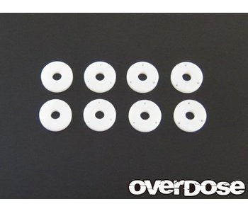 Overdose PTFE Shock Piston Set for DRB, DIB (φ0.6x3/φ0.7x3/φ0.8x3/Blank)