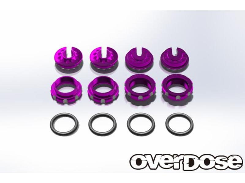 Overdose Aluminum Adjust Nut & Spring Retainer Set / Color: Purple