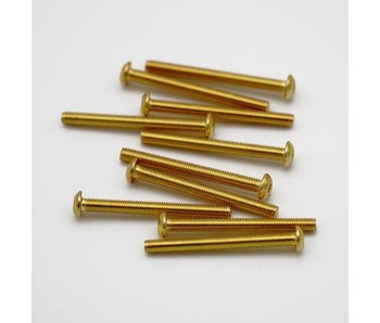 RC OMG Golden Screw Button Head M3 x 30mm (10pcs)