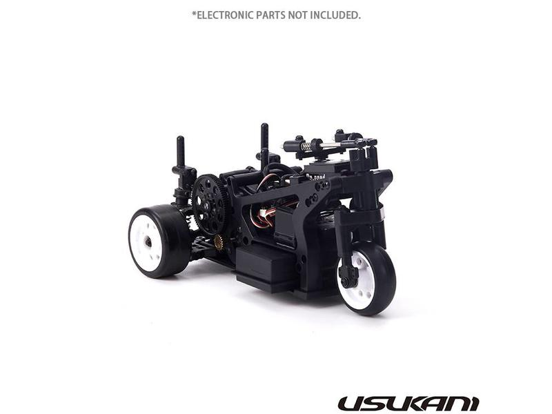 Usukani US88200 - D3T 1/8 Drift Tricycle Chassis Kit + TUKCICA Body