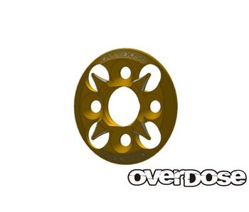 Overdose Spur Gear Support Plate Type-4 / Gold