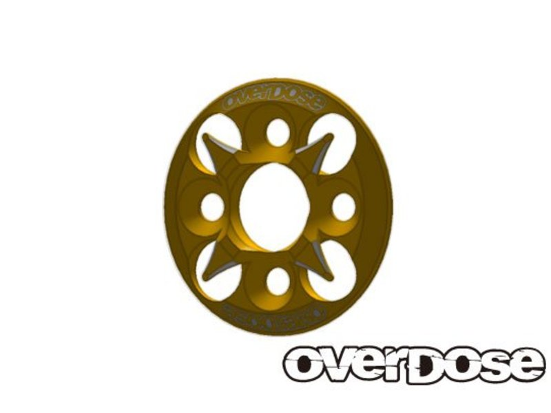 Overdose Spur Gear Support Plate Type-4 / Color: Gold