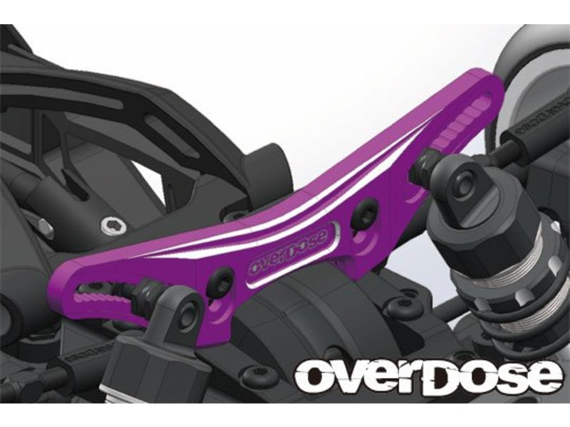 Overdose Height Adjustment Aluminum Front Shock Tower for XEX, XEX Vspec. / Color: Black