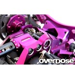 Overdose Oversize Ball Bearing Center Mount for Divall (LR set) / Color: Red
