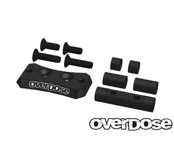 Overdose Alum. Cooling Fan Mount for Vacula II, GALM / Black