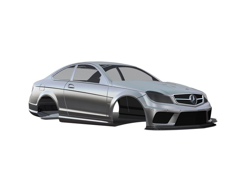 Rc Arlos RC-W204C63BS - Mercedes C63 AMG Clear Body