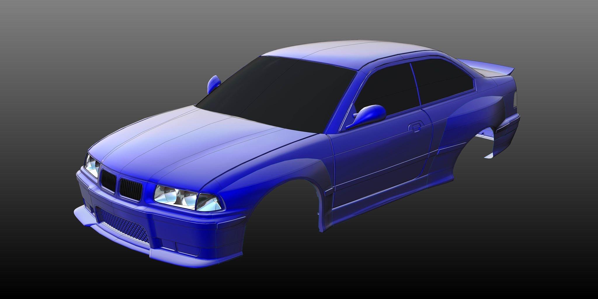 Rc Arlos - RC-E36M3WBK - Wide Body Kit for BMW M3 (E36 ...