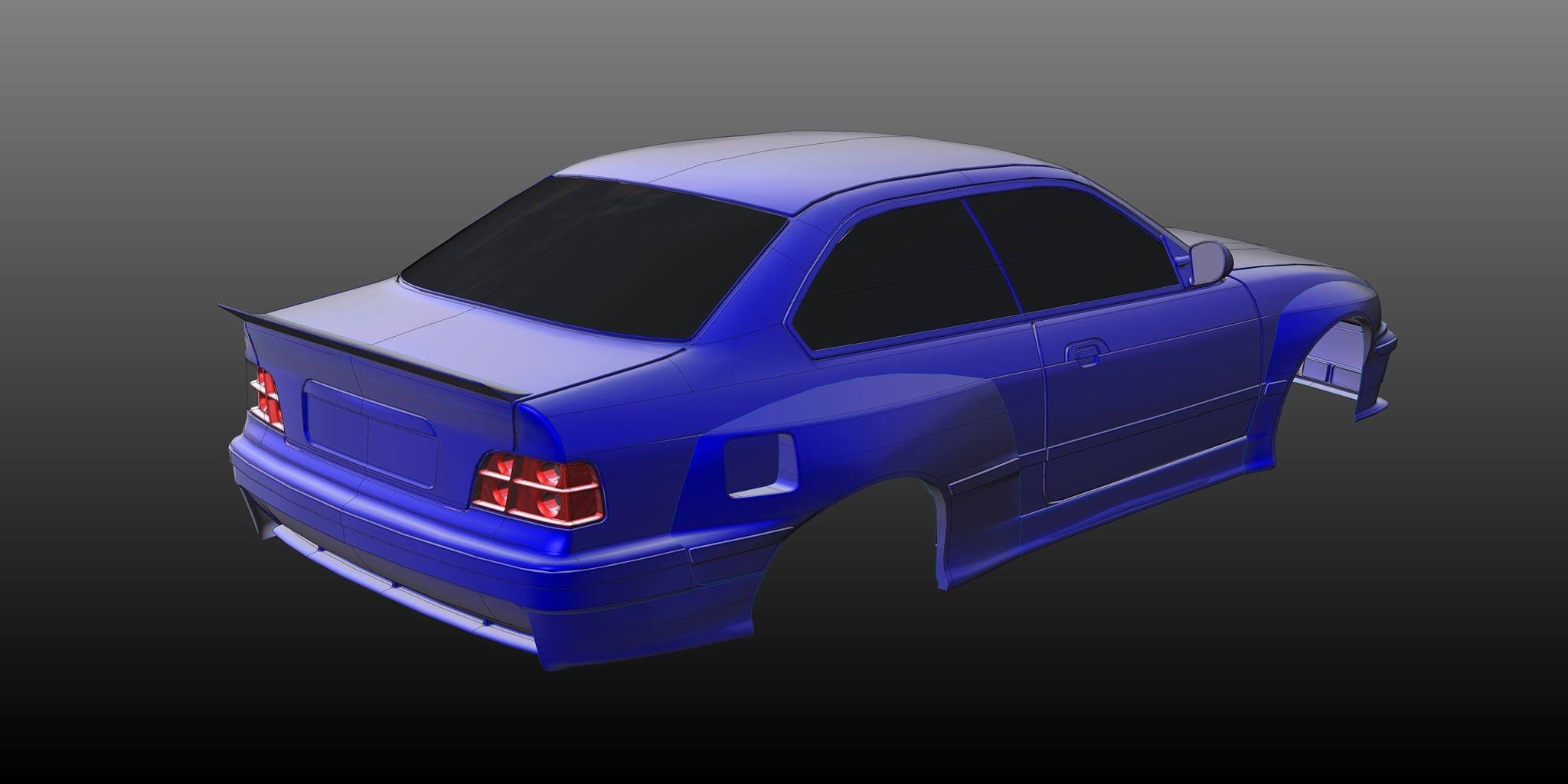 Rc Arlos - RC-E36M3WBK - Wide Body Kit for BMW M3 (E36