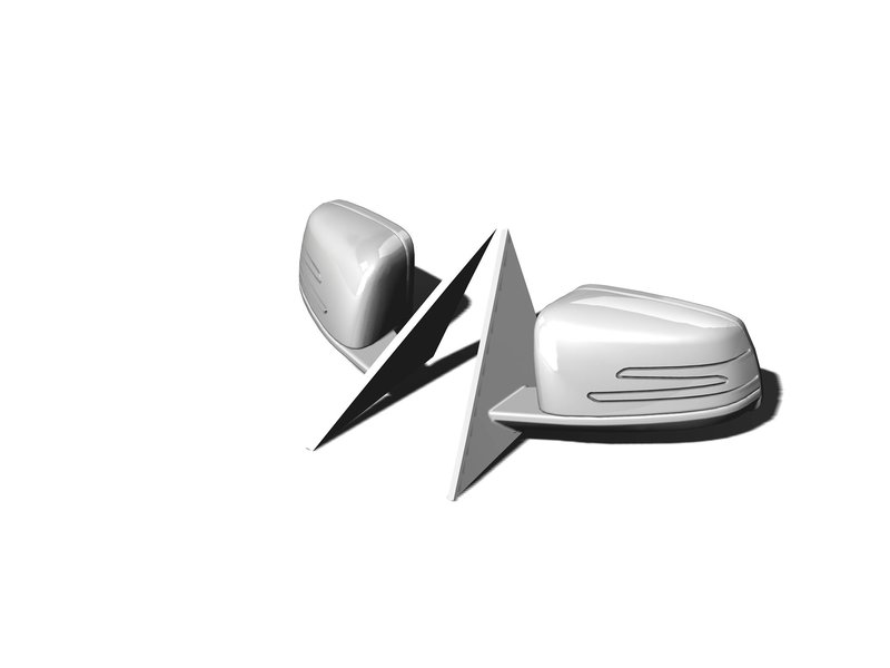 Rc Arlos RC-W204C63M - Mirrors for Mercedes C63 AMG