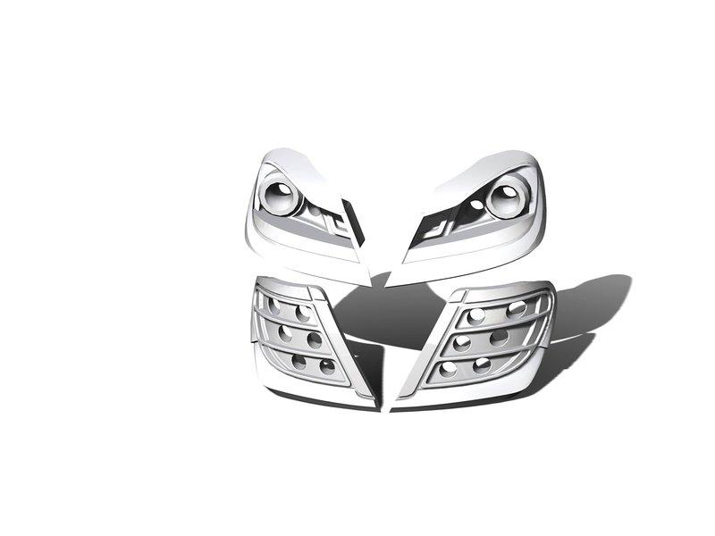 Rc Arlos RC-W204C63LB-V1 - Lights Buckets V1 for Mercedes C63 AMG