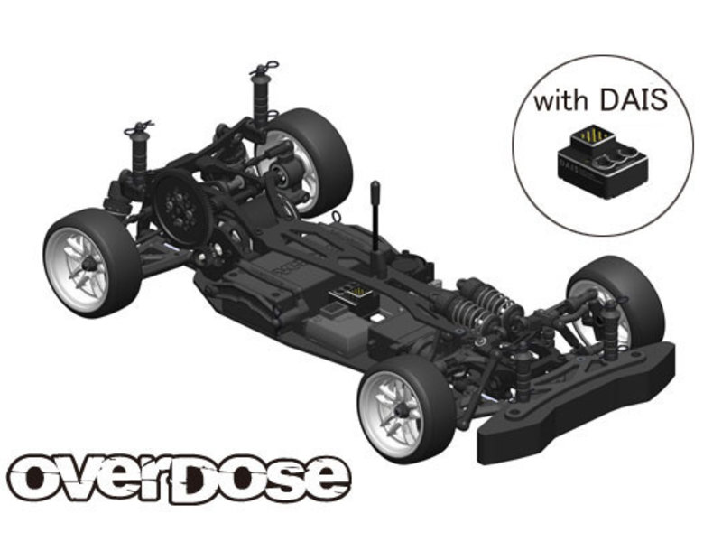 Overdose GALM 2WD Drift Car Chassis Kit with DAIS gyro