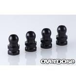 Overdose Aluminum Shock Stand Off / Color: Black (4pcs)