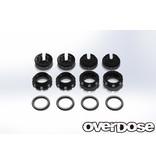 Overdose Aluminum Adjust Nut & Spring Retainer Set / Color: Black