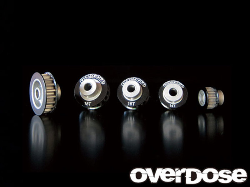 Overdose Center Pulley 12T for Vacula / Color: Black