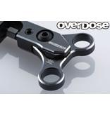 Overdose Adjustable Aluminum Front Upper Arm Set for OD / Color: Black