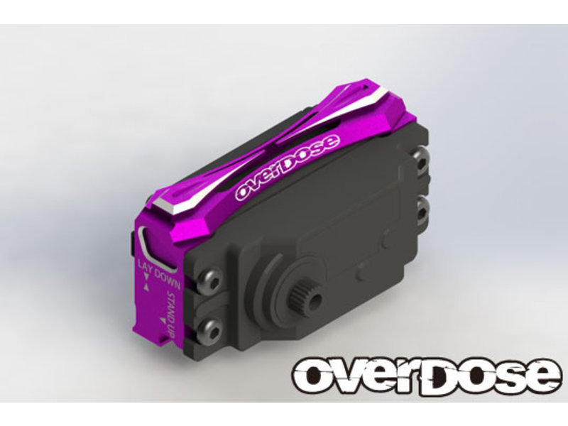 Overdose 2-Way Layout Aluminum Servo Mount for Vacula, Divall, Vacula II, GALM / Color: Red
