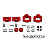 Overdose Adjustable Aluminium Rear Upright for OD, YD-4, YD-2 / Color: Red