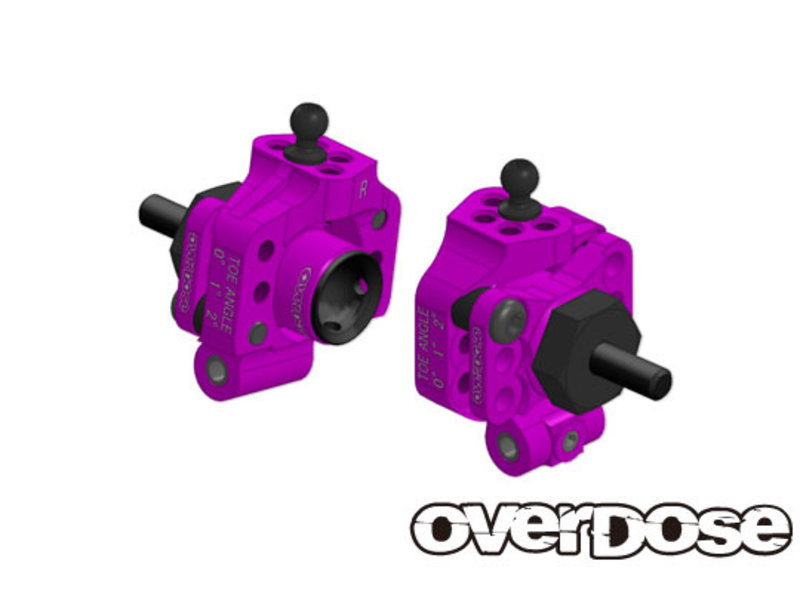 Overdose Adjustable Aluminium Rear Upright for OD, YD-4, YD-2 / Color: Purple