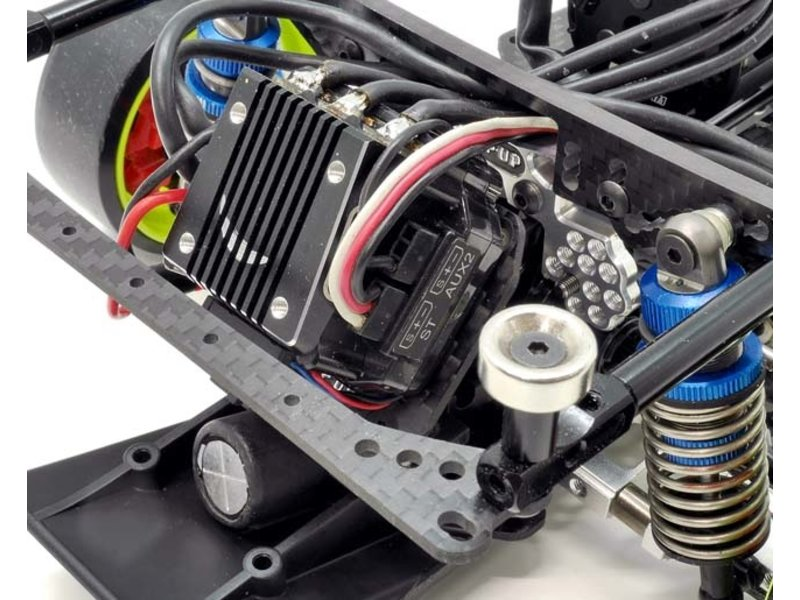 WRAP-UP Next 0458-FD - Carbon ESC Plate & Slash Mount Set