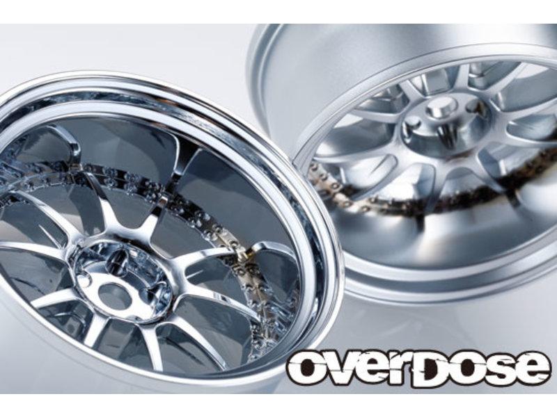 Overdose SSR Professor SP3 / Color: Matte Chrome / Offset: 9mm (2pcs)