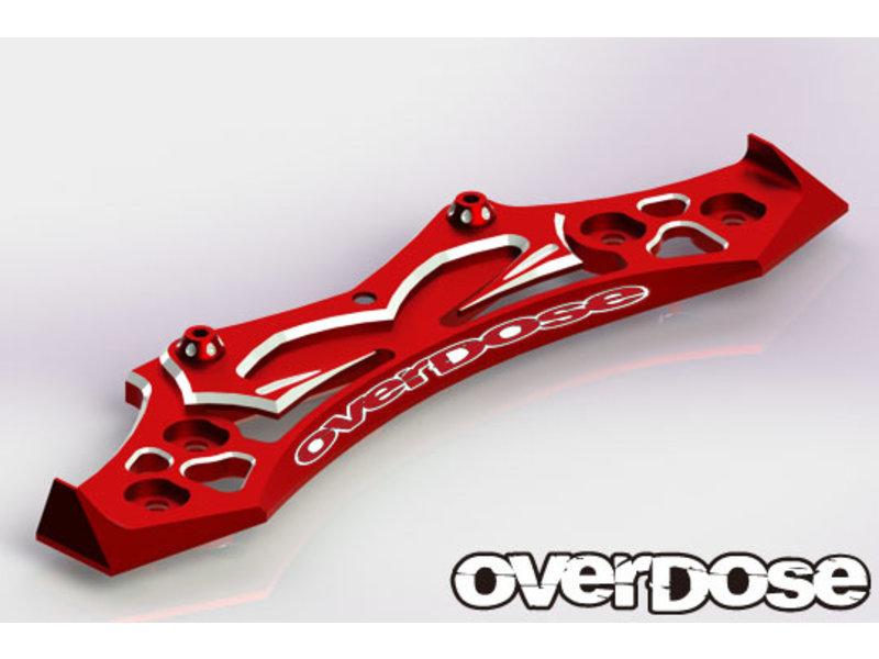 Overdose Aluminum Bumper for OD, YOKOMO / Color: Red