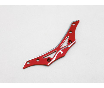 Yokomo Aluminum Front Bumper Brace - Red