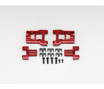 Yokomo Aluminum Adjustable Rear Short H-Arm Set - Red