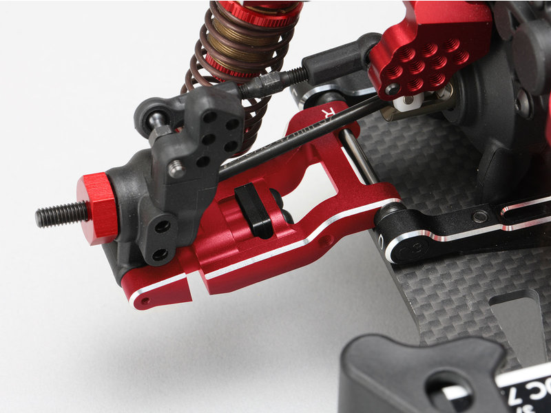 Yokomo Y2-R08RAS - Aluminum Adjustable Rear Short H-Arm Set - Red