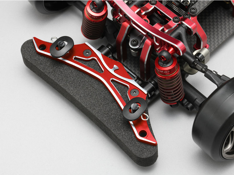 Yokomo Y2-R001B - Aluminum Front Bumper Brace - Red - DISCONTINUED