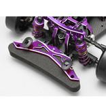 Yokomo Y2-P001B - Aluminum Front Bumper Brace - Purple