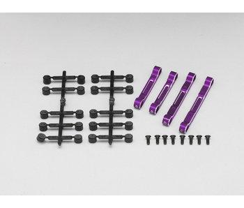 Yokomo Aluminium Adjustable Suspension Mount Set - Purple - DISCONTINUED