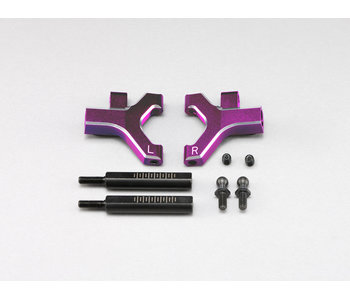 Yokomo Aluminium Front Lower Short A-Arm - Purple (1 set)